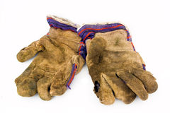 Old work gloves Royalty Free Stock Photos