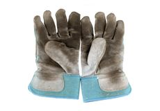 Old Work Gloves. Closeup image of a pair of dirty work gloves royalty free stock images