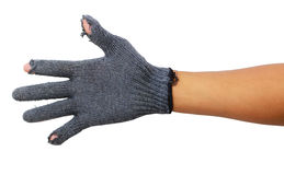 Old work gloves Royalty Free Stock Images