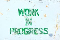 Old work in progress sign Stock Photography