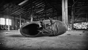 Old work shoe Stock Image