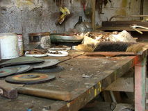 Old workbench Royalty Free Stock Images