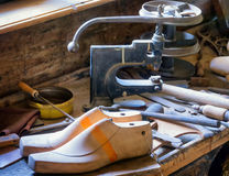 Old workbench. At a repair shop Royalty Free Stock Images