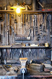 Old workbench Royalty Free Stock Photos
