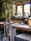 Old workbench Royalty Free Stock Photography