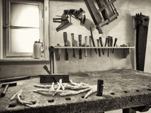 Old workbench Stock Images