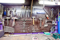 An old workbench Royalty Free Stock Image