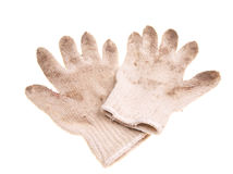 Old working gloves Stock Photography