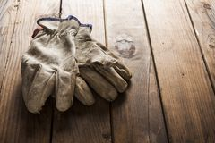 Old working gloves Stock Image