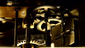 Old working mechanism stock footage