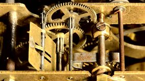 Old working mechanism stock video footage