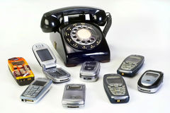 Old working Telephones. Royalty Free Stock Images