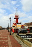 Old, working tugboat, the Buster Bouchard, Fells Point,Maryland,April,2015 royalty free stock photo
