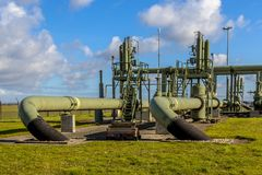 Old Natural gas well Royalty Free Stock Photo