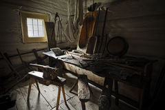 Old workroom in  farmer's house Royalty Free Stock Images