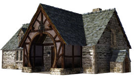 Old workshop. 3D render of an old workshop Royalty Free Stock Images