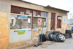 Old workshop car in Malia. Stock Photo