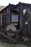 The Old Workshop. Covered with antiquated objects and an old skull, this workshop is located on the Old Borges Cattle Ranch in Walnut Creek, California Stock Images