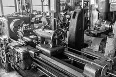 Old workshop, werkstatt bw 1 Stock Photography