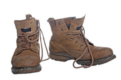 Old worky boots royalty free stock image