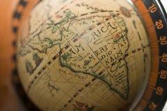 Old world America. Globe of old world America Royalty Free Stock Image