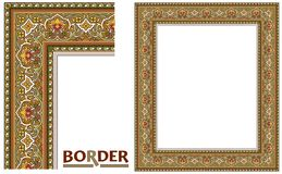 Old World Borders Vector - Tiled frame in plant leaves and flowers Framework Decorative Elegant style vector illustration