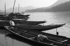 Old world charm of Mekong River, Laos Stock Image