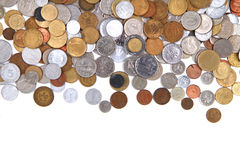 Old world coins texture Royalty Free Stock Photography