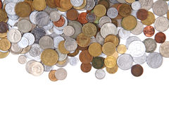 Old world coins texture Stock Images