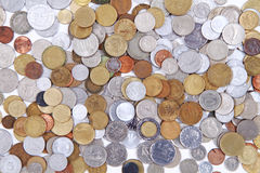 Old world coins texture Royalty Free Stock Photo