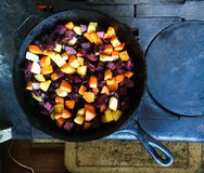 Old World Colorful Cooking Royalty Free Stock Photos