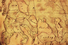 Old World Europe Map Background Royalty Free Stock Photos