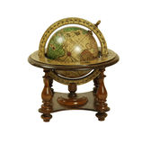Old world globe. With basic navigation notations royalty free stock photos