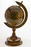 Old World Globe. On A Pedestal Stand royalty free stock photos
