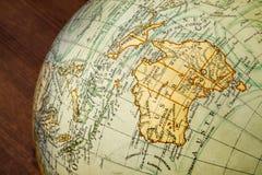 Old world globe: Australia Royalty Free Stock Image
