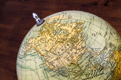 Old world globe: North America and Middle America Royalty Free Stock Images