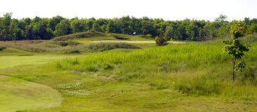 Old World Links Style Golf Course Royalty Free Stock Photos