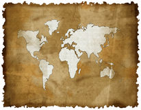 Old world map Stock Photo