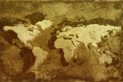 Old world map. Map of the world on old grunge background Royalty Free Illustration