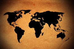 Old world map Royalty Free Stock Photography