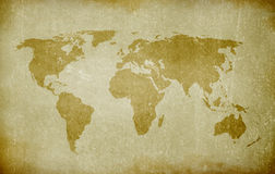 Old world map. Old paper with world map stock illustration