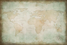 Old world map background Royalty Free Stock Photos