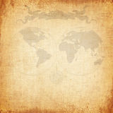 Old world map with canvas texture Stock Images