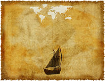 Old world map on grunge paper Royalty Free Stock Photos