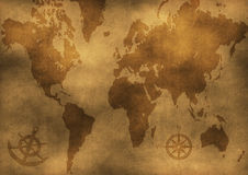 Old world map illustration Royalty Free Stock Photo