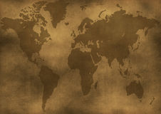 Old World Map Illustration Stock Image