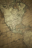 Old World Map - North America Royalty Free Stock Images