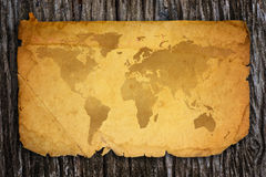 Old world map. Royalty Free Stock Photography