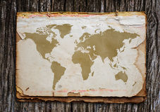Old world map. Stock Image