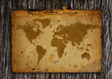 Old world map. Stock Photo
